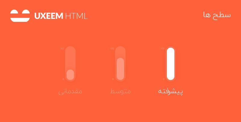 سطح های دوره های آموزش HTML یوکسیم